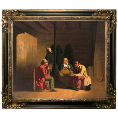 'Country Politician 1849' Framed Graphic Art Print on Canvas Size: 25.25