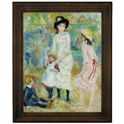 'Children on the Seashore Guernsey 1883' by Pierre-Auguste Renoir Framed Graphic Art Print on Canvas Size: 16.75