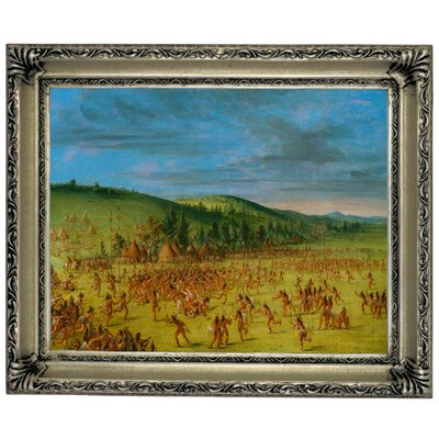 'Ball Play of the Choctaw Ball Up 1846' Framed Graphic Art Print on Canvas Size: 14