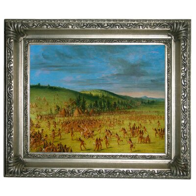 'Ball Play of the Choctaw Ball Up 1846' Framed Graphic Art Print on Canvas Size: 11