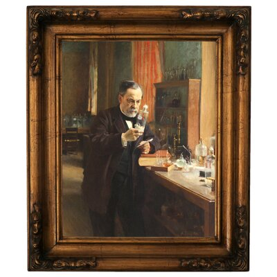 'Portrait of Louis Pasteur in his Laboratory 1885' Framed Graphic Art Print on Canvas Size: 19.5