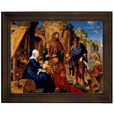 'The Adoration of the Magi 1504' Framed Graphic Art Print on Canvas Size: 10.75