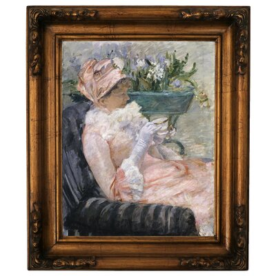 'The Cup of Tea 1880' by Mary Cassatt Framed Graphic Art Print on Canvas Size: 15.25