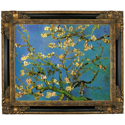 'Blossoming Almond Tree' by Vincent Van Gogh Framed Graphic Art Print on Canvas Size: 21.25
