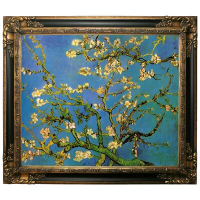 'Blossoming Almond Tree' by Vincent Van Gogh Framed Graphic Art Print on Canvas Size: 25.25