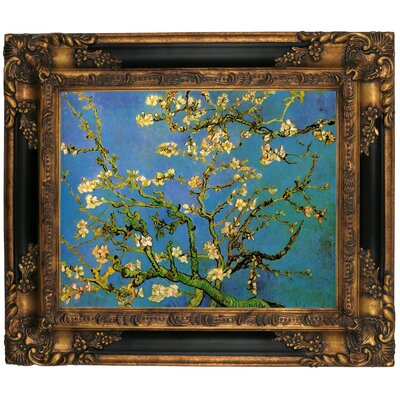 'Blossoming Almond Tree' by Vincent Van Gogh Framed Graphic Art Print on Canvas Size: 16.25
