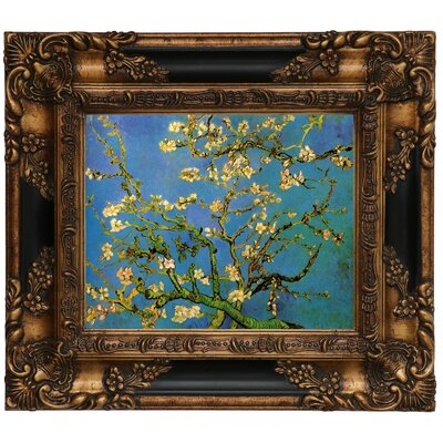 'Blossoming Almond Tree' by Vincent Van Gogh Framed Graphic Art Print on Canvas Size: 13.25