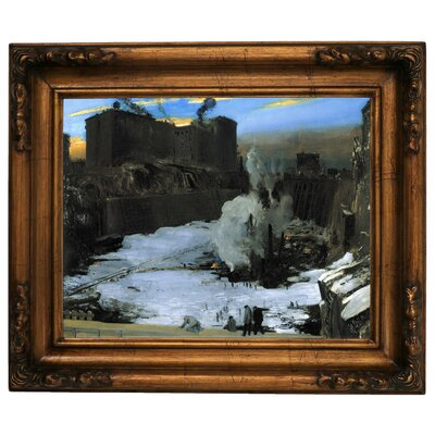 'Pennsylvania Station Excavation 1907-1908' Framed Graphic Art Print on Canvas Size: 10.75