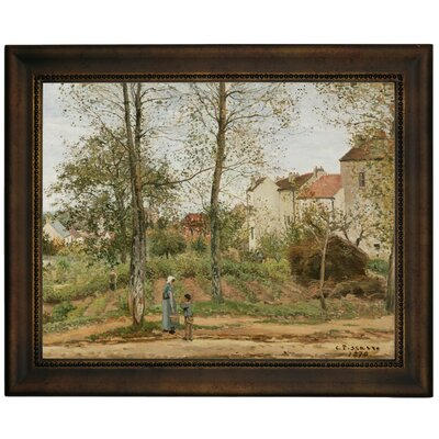 'Houses at Bougival Autumn 1870' by Camille Pissarro Framed Graphic Art Print on Canvas Size: 10.75
