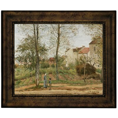 'Houses at Bougival Autumn 1870' by Camille Pissarro Framed Graphic Art Print on Canvas Size: 13.75