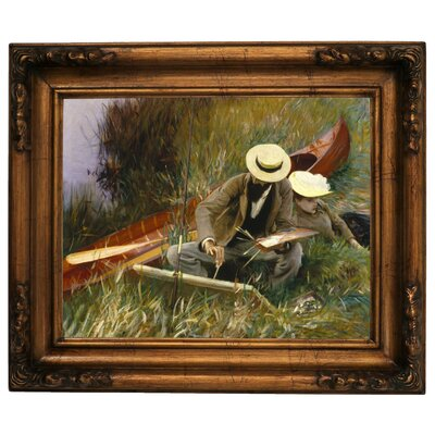 'An Out-of-Doors Study 1889' by John Singer Sargent Framed Graphic Art Print on Canvas Size: 12.5
