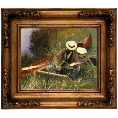 'An Out-of-Doors Study 1889' by John Singer Sargent Framed Graphic Art Print on Canvas Size: 10.75