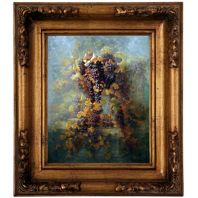 'Grapes and Architecture 1907' Framed Graphic Art Print on Canvas Size: 14.5