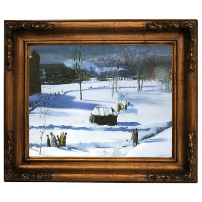 'Blue Snow, The Battery 1910' Framed Graphic Art Print on Canvas Size: 15.5