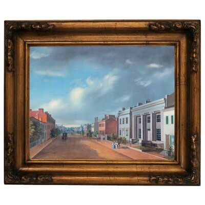 'Cincinnati Fourth Street East From Vine 1835' Framed Graphic Art Print on Canvas Size: 15.5