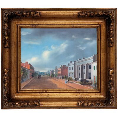 'Cincinnati Fourth Street East From Vine 1835' Framed Graphic Art Print on Canvas Size: 12.5