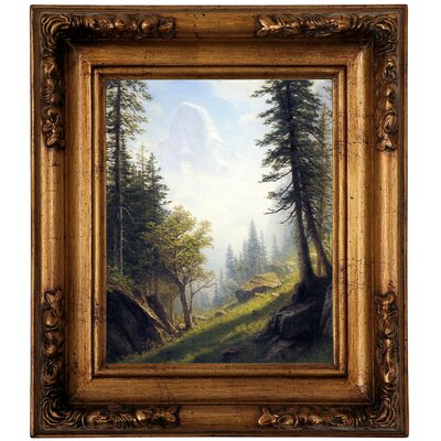 'Among the Bernese Alps' Framed Graphic Art Print on Canvas Size: 14.5
