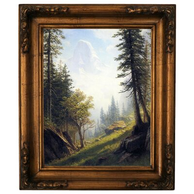 'Among the Bernese Alps' Framed Graphic Art Print on Canvas Size: 19.5