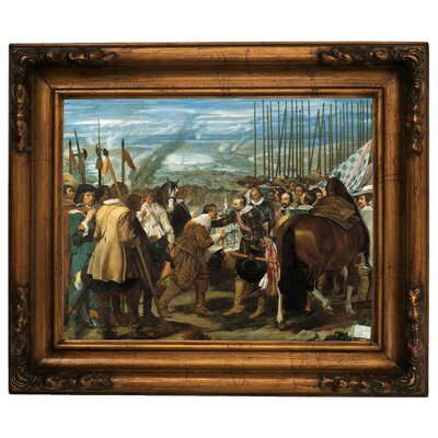 'The Surrender of Breda - The Lances' Framed Graphic Art Print on Canvas Size: 15.5