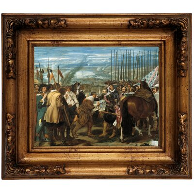 'The Surrender of Breda - The Lances' Framed Graphic Art Print on Canvas Size: 12.5