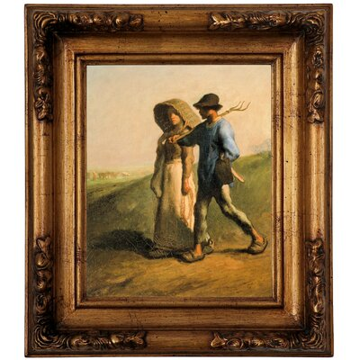 'Going to Work 1851' Framed Graphic Art Print on Canvas Size: 14.5