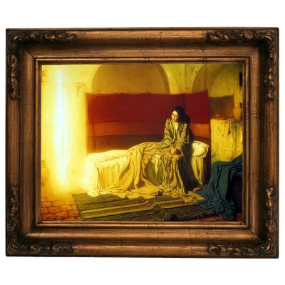 'The Annunciation' Framed Graphic Art Print on Canvas Size: 12.5