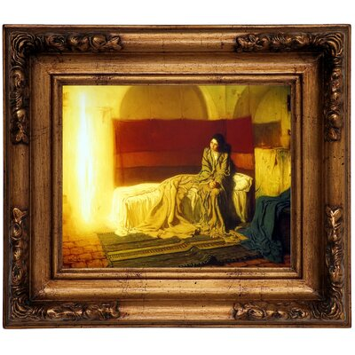 'The Annunciation' Framed Graphic Art Print on Canvas Size: 10.75