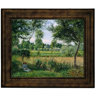 'Morning Sunlight Effect, Eragny 1899' by Camille Pissarro Framed Graphic Art Print on Canvas Size: 10.75