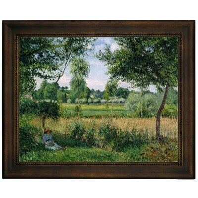 'Morning Sunlight Effect, Eragny 1899' by Camille Pissarro Framed Graphic Art Print on Canvas Size: 13.75