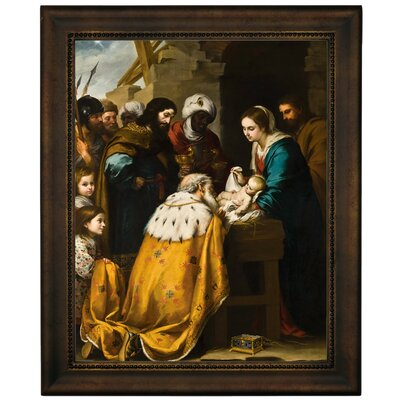 'Adoration of the Magi 1655' Framed Graphic Art Print on Canvas Size: 12.75