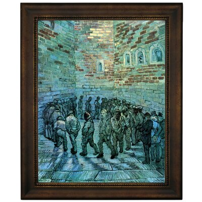 'Prisoners Exercising After Dore' by Vincent Van Gogh Framed Graphic Art Print on Canvas Size: 16.75