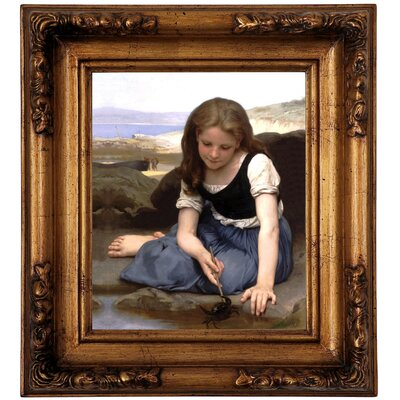 'The Crab 1869' Framed Graphic Art Print on Canvas Size: 14.5