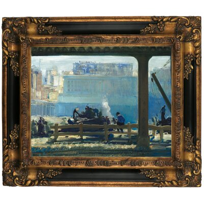 'Blue Morning 1909' Framed Graphic Art Print on Canvas Size: 16.25
