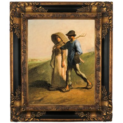 'Going to Work 1851' Framed Graphic Art Print on Canvas Size: 19.25