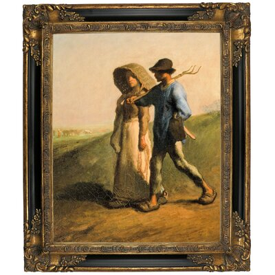 'Going to Work 1851' Framed Graphic Art Print on Canvas Size: 25.25
