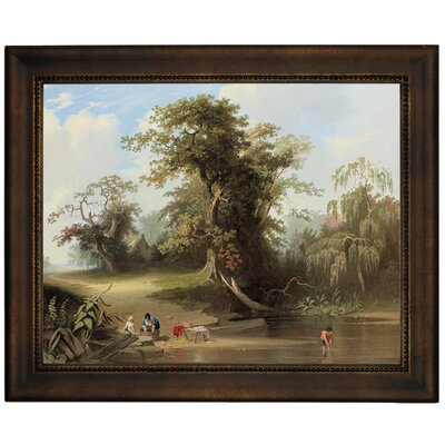 'Landscape - Rural Scene 1845' Framed Graphic Art Print on Canvas Format: Bronze Frame, Size: 10.75