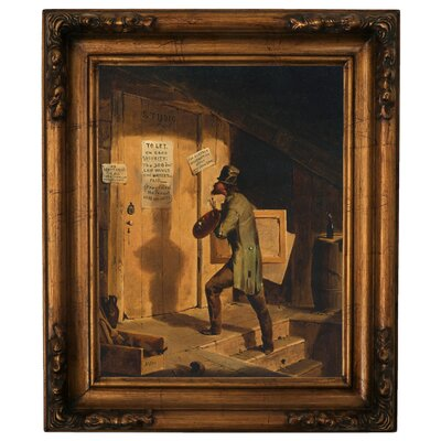 'Art Versus Law 1859' Framed Graphic Art Print on Canvas Size: 19.5
