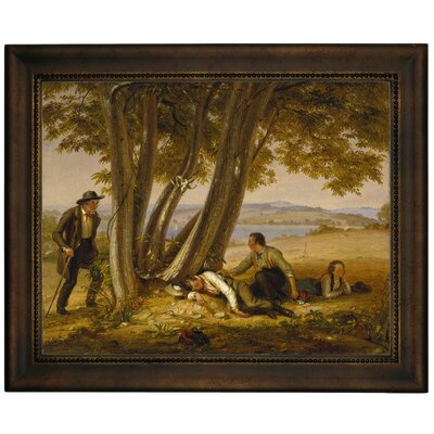 'Boys Caught Napping in a Field 1848' Framed Graphic Art Print on Canvas Size: 13.75