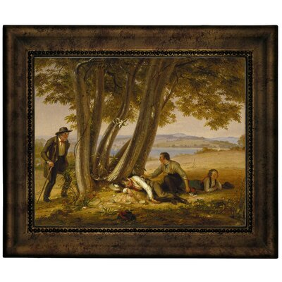 'Boys Caught Napping in a Field 1848' Framed Graphic Art Print on Canvas Size: 10.75
