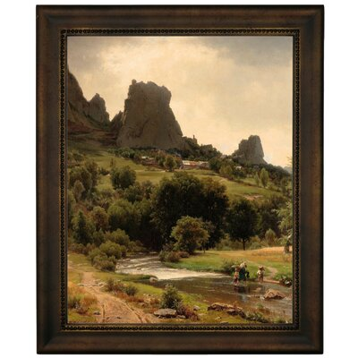 'Summer Flowers View of Kallenfels 1853' Framed Graphic Art Print on Canvas Size: 12.75