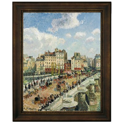 'The Pont-Neuf 1902' by Camille Pissarro Framed Graphic Art Print on Canvas Size: 12.75