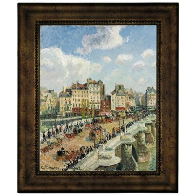 'The Pont-Neuf 1902' by Camille Pissarro Framed Graphic Art Print on Canvas Size: 16.75