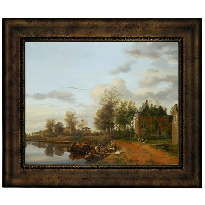 'Country House on the Vliet near Delft 1665' Framed Graphic Art Print on Canvas Size: 10.75
