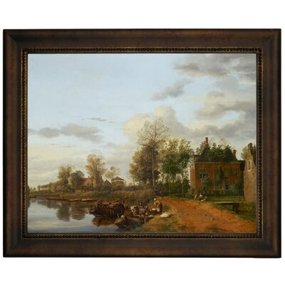 'Country House on the Vliet near Delft 1665' Framed Graphic Art Print on Canvas Size: 13.75