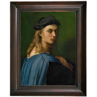 'Portrait of Bindo Altoviti' Framed Oil Painting Print on Canvas Format: Dark Gray Framed, Size: 19.5