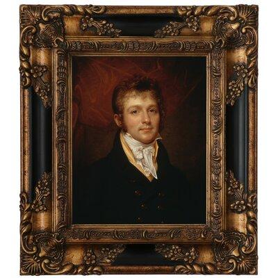 'Portrait of Edward Shippen Burd of Philadelphia 1806' Framed Oil Painting Print on Canvas Format: Antique Gold Framed, Size: 15.25