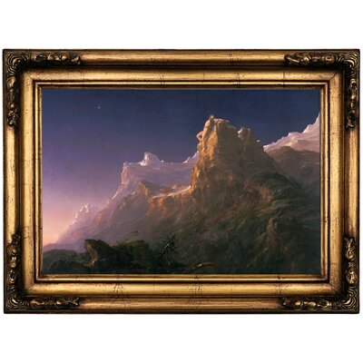 'Prometheus Bound 1847' Framed Oil Painting Print on Canvas Format: Antique Gold Framed, Size: 16.5