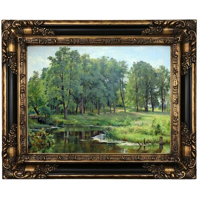 'In the Park 1897' Framed Oil Painting Print on Canvas Format: Peru Framed, Size: 17.25