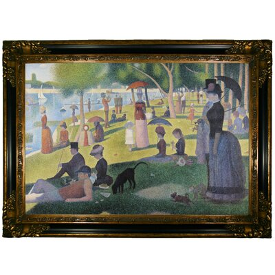 'Sunday afternoon on Sue La Grande Island' Framed Oil Painting Print on Canvas Format: Dark Gold Framed, Size: 24.25