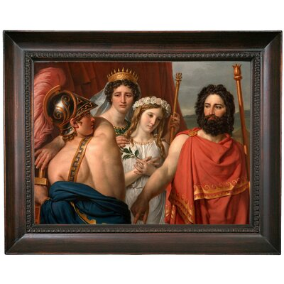 'The Anger of Achilles 1819' Framed Oil Painting Print on Canvas Format: Dark Gray Framed, Size: 15.5